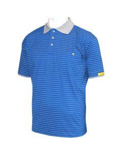 HB SCHUTZBEKLEIDUNG WL28046. Conductex PS70-BG-L-000 - ESD-Damen-Poloshirt, blau, L