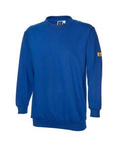 ESD Sweat-Shirt/Dopple Jersey, kobaltblau 245 gr/m2