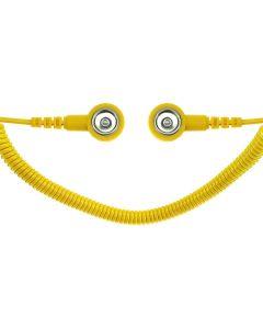 SAFEGUARD WL42086. SAFEGUARD ESD PRO - ESD-Spiralkabel, 2 MOhm, 2,4 m, 10/10 mm Druckknopf, gelb