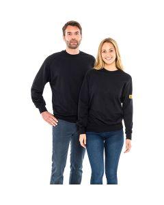 SAFEGUARD WL43773. SafeGuard ESD - ESD-Sweatshirt, rundhals, unisex, schwarz, S
