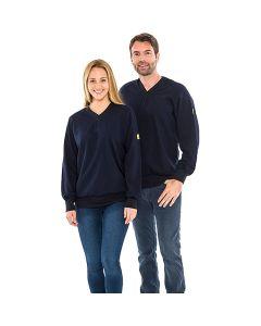 SAFEGUARD WL43786. SafeGuard ESD - ESD-Sweatshirt, V-Ausschnitt, unisex, blau, XXL