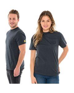 SAFEGUARD WL44699. SafeGuard PRO - ESD T-Shirt rundhals mit Brusttasche, grau, XS