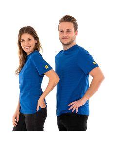 SAFEGUARD WL44709. SafeGuard PRO - ESD T-Shirt rundhals mit Brusttasche, blau, S