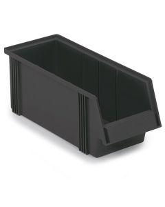 Treston 1950-4ESD. Sichtlagerkasten BxTxH 186x500x182 mm, ESD schwarz