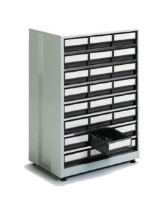 Großes Schubladenmagazin Treston 2440-3, 410x605x870 mm, 24 Schubladen, grau
