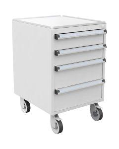 Treston 60649302. ESD-Schubladenblock 45/56-2 mit Rollen, 100 % Auszug