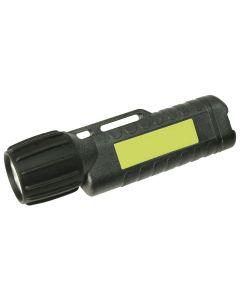 UK 10010N. Helmlampe 3AA eLED CPO, TS Heckschalter, schwarz, nachl. Streifen