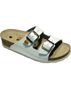 VITAFORM 3570/WEISS/40. 3570-10-40 - ESD-Sandalen 3570, 40, weiß, Vollrindleder, Pantolette