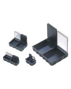 WTC N1-6-6-10-10. SMD-Klappbox, ESD, 16 x 12 x 15 mm, klein, schwarz