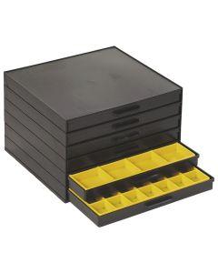 WTC LIC8162048. Schubladenschrank, ESD, Schubladen 6 Stück, 273 x 265 x 187 mm