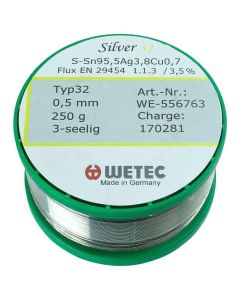 WTC WE-556743. Lötdraht bleifrei, Silver High 32, 0,5 mm, 500 g